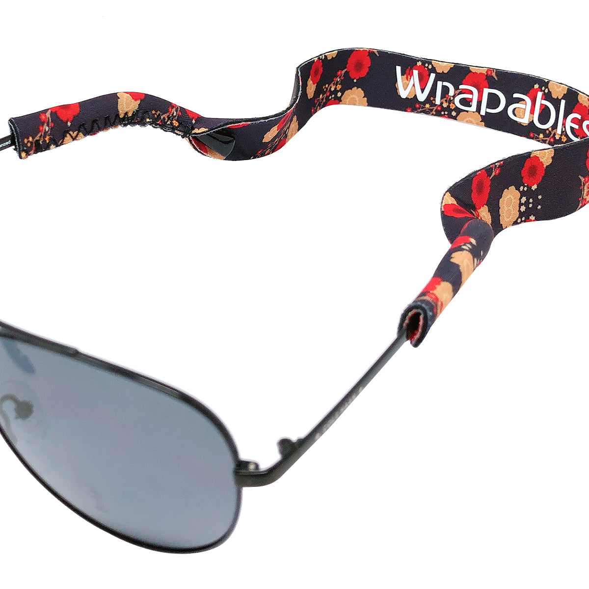 Wrapables Adjustable Eyewear Retainer, Sunglass Strap with Neoprene Floating Material for Sports and Outdoors