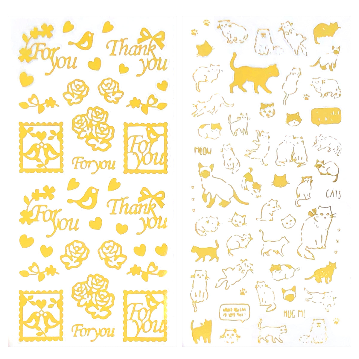 Wrapables Decorative Transparent Clear Film Stickers, Resin Stickers for DIY Crafts, Stationery, Diary (4 Sheets), Inspirational Quotes
