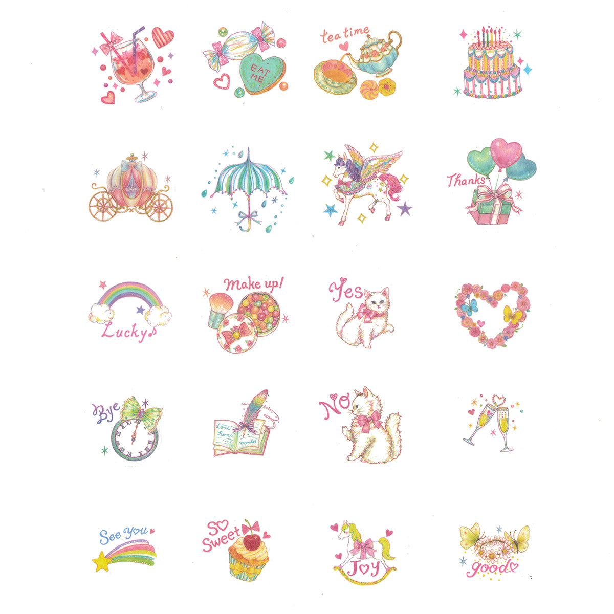 Wrapables Decorative Scrapbooking Washi Stickers, DIY Crafts for Stationery, Diary, Card Making (120 pcs)