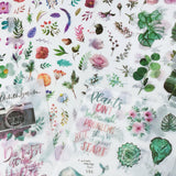 Wrapables Washi Stickers Sets for Scrapbooking, DIY Crafts for Stationery, Diary, Card Making