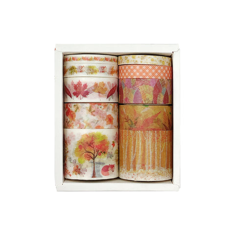 Wrapables Pink Flower Garden Washi Masking Tape, Set of 3