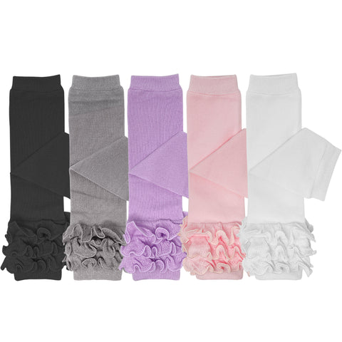 Wrapables Lil Miss Daisy Double Layer Lace Ruffle Socks, Set of 2 (8-10)