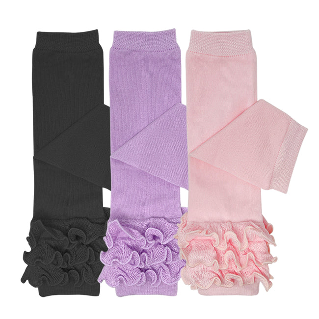 Wrapables Really Ruffly Baby & Toddler Leg Warmers (Set of 3)