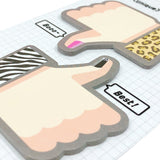 Wrapables Thumbs Up Thumbs Down Sticky Notes (Set of 2)