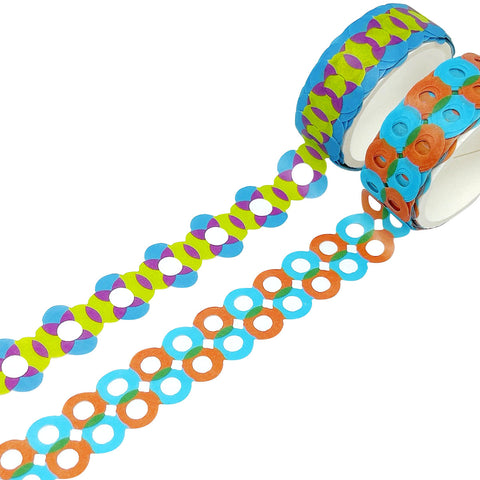 Wrapables Dotted Washi Masking Tape, Pineapple Express