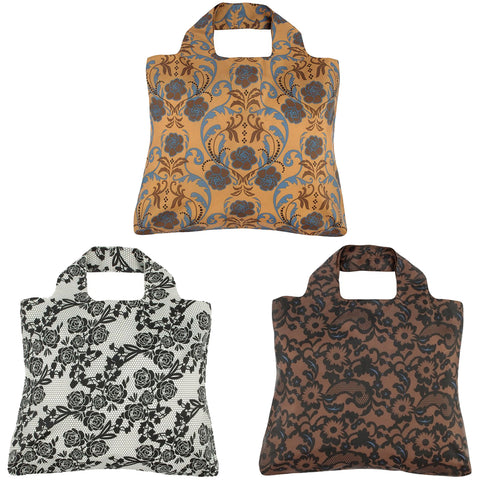 Envirosax Classic Touch Reusable Shopping Bags, (set of 3)