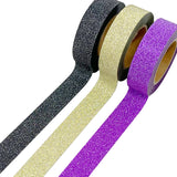 Wrapables Glitter and Shine Washi Tapes Decorative Masking Tapes (Set of 3)