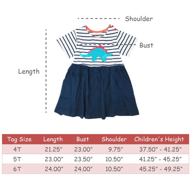 Wrapables Girls Casual Summer Dress with Sequins