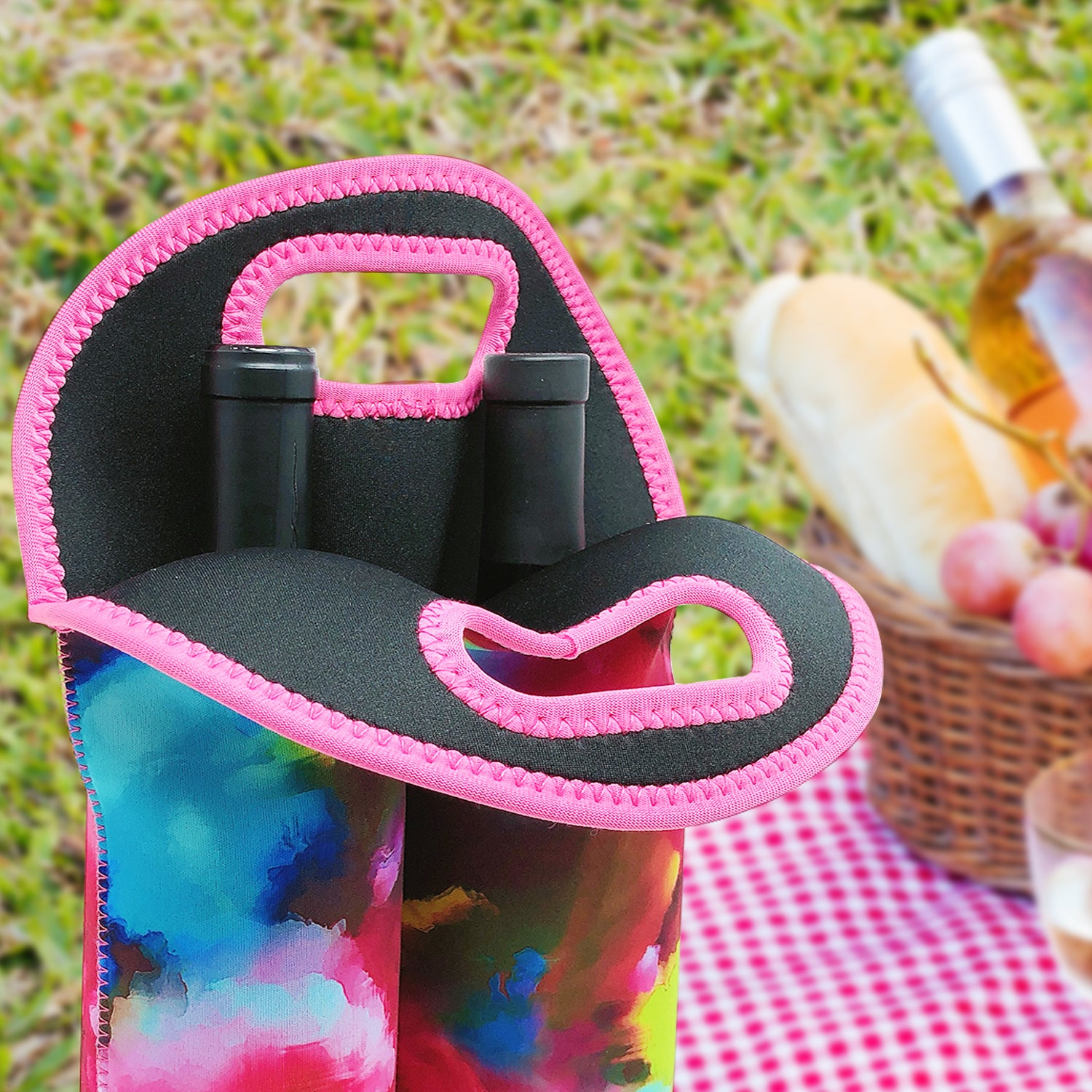 Wrapables Insulated Neoprene Wine Tote