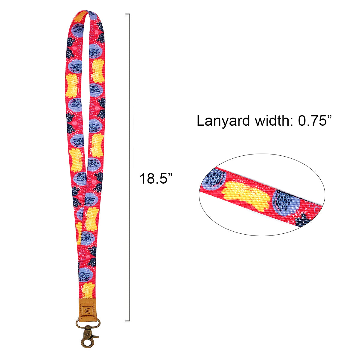 Wrapables Lanyard Keychain and ID Badge Holder