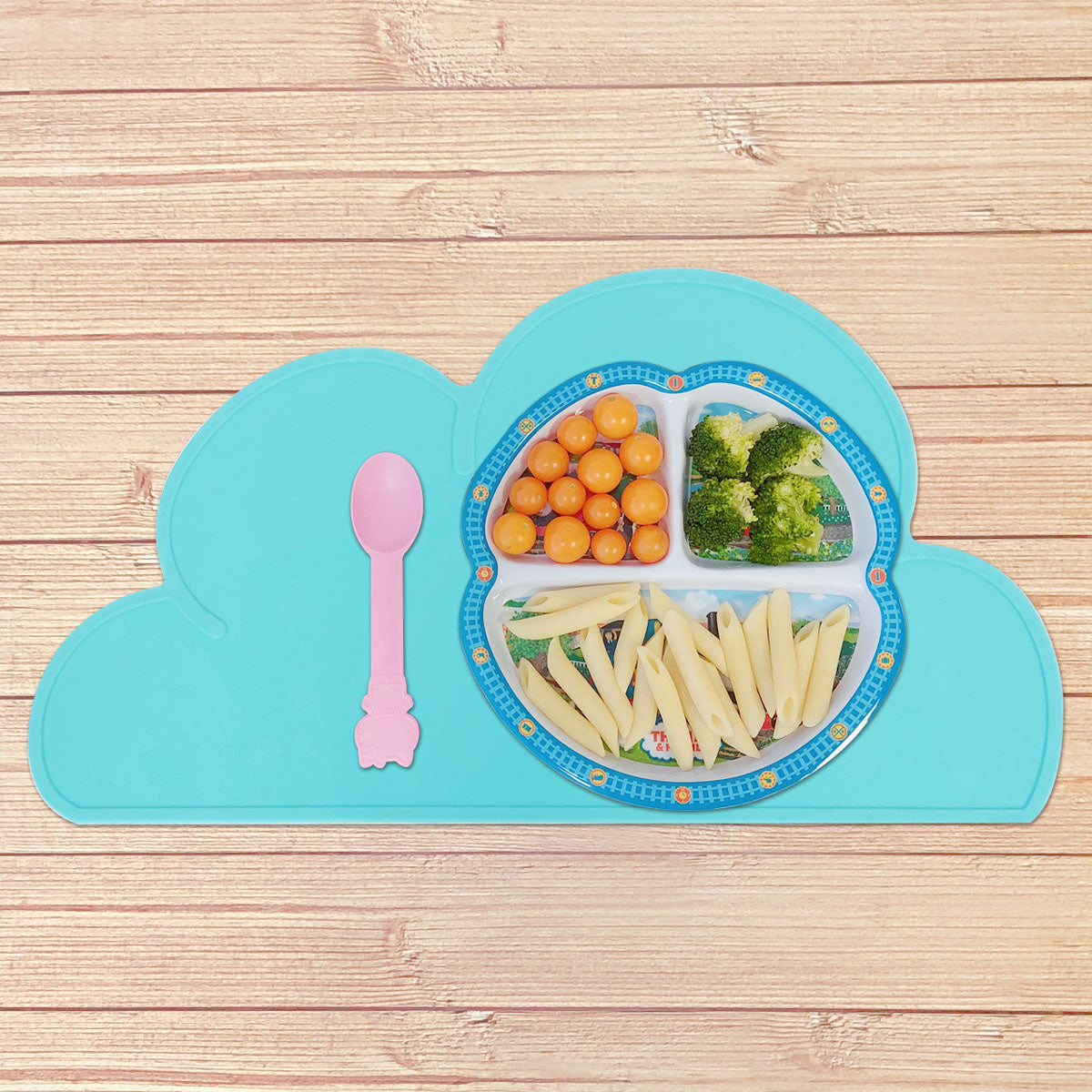 Wrapables® Children's Silicon Cloud Placemat Portable and Easy to Clean Food Mat