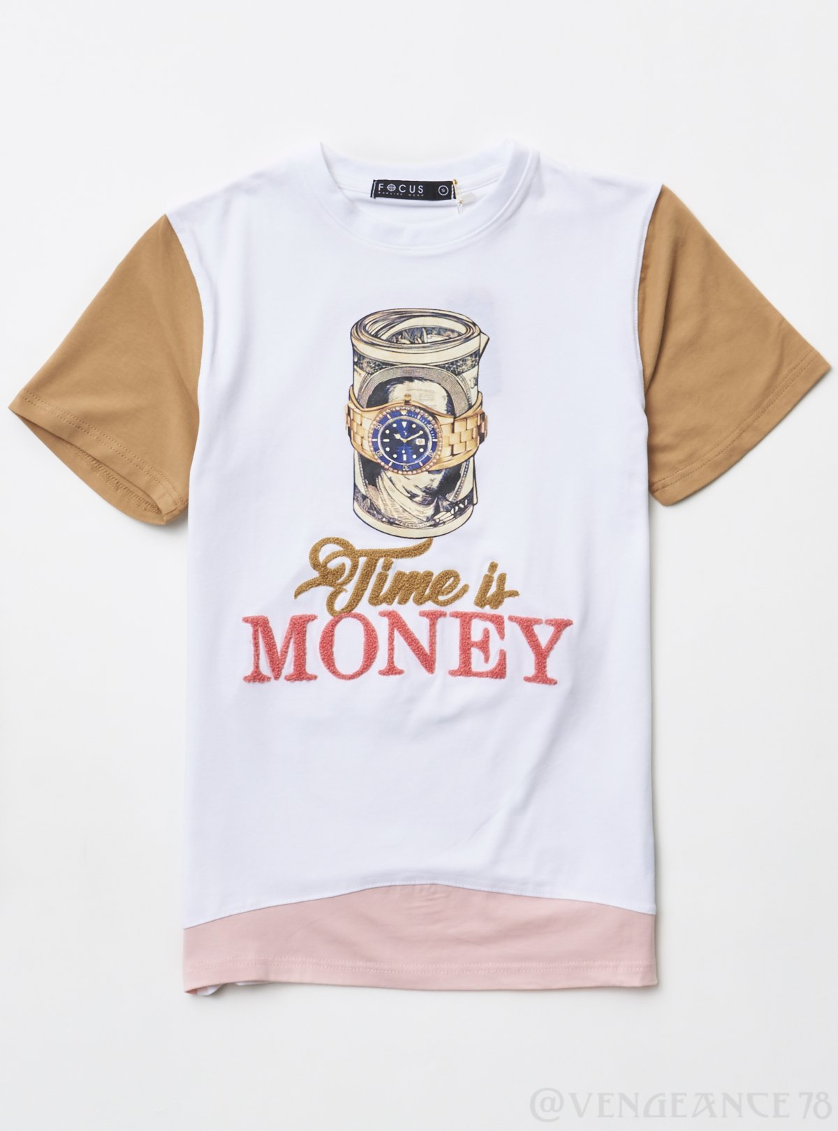 Focus T-Shirt - Time is Money - White - 80359