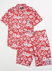 Cookies Shorts Set - Waimea Cotton - Red