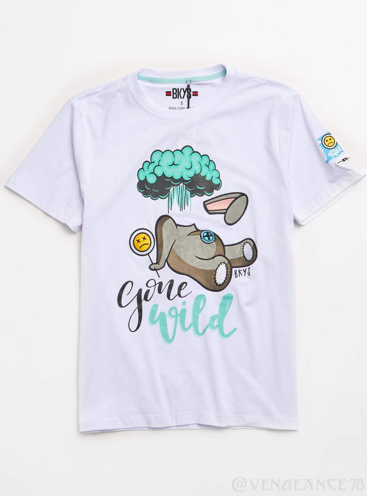 Bkys T-Shirt - Gone Wild - White - T182