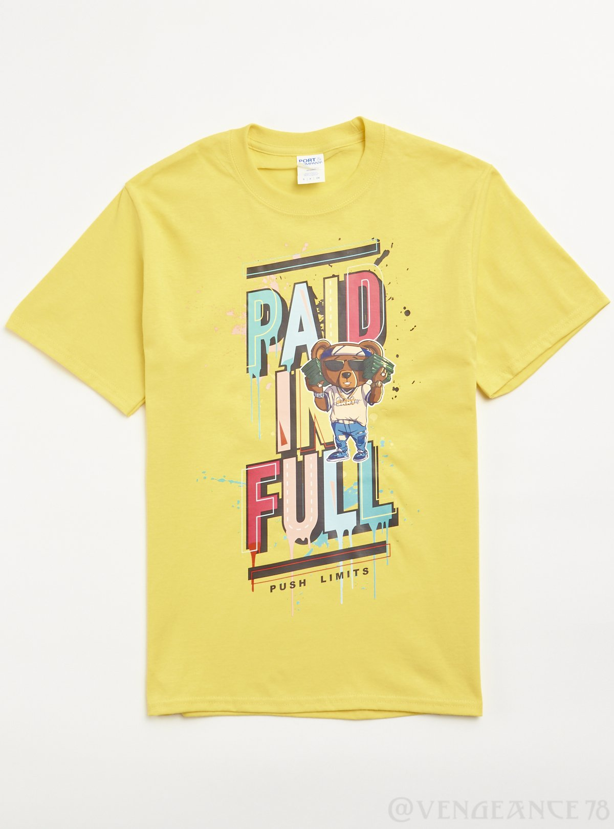 Port & Company T-Shirt - Paid in Full - Yellow