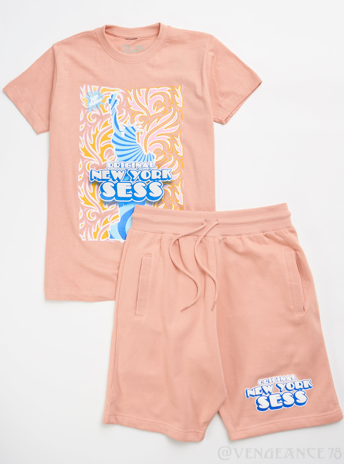 Runtz Short Set - New York Sess - Blush - 40138