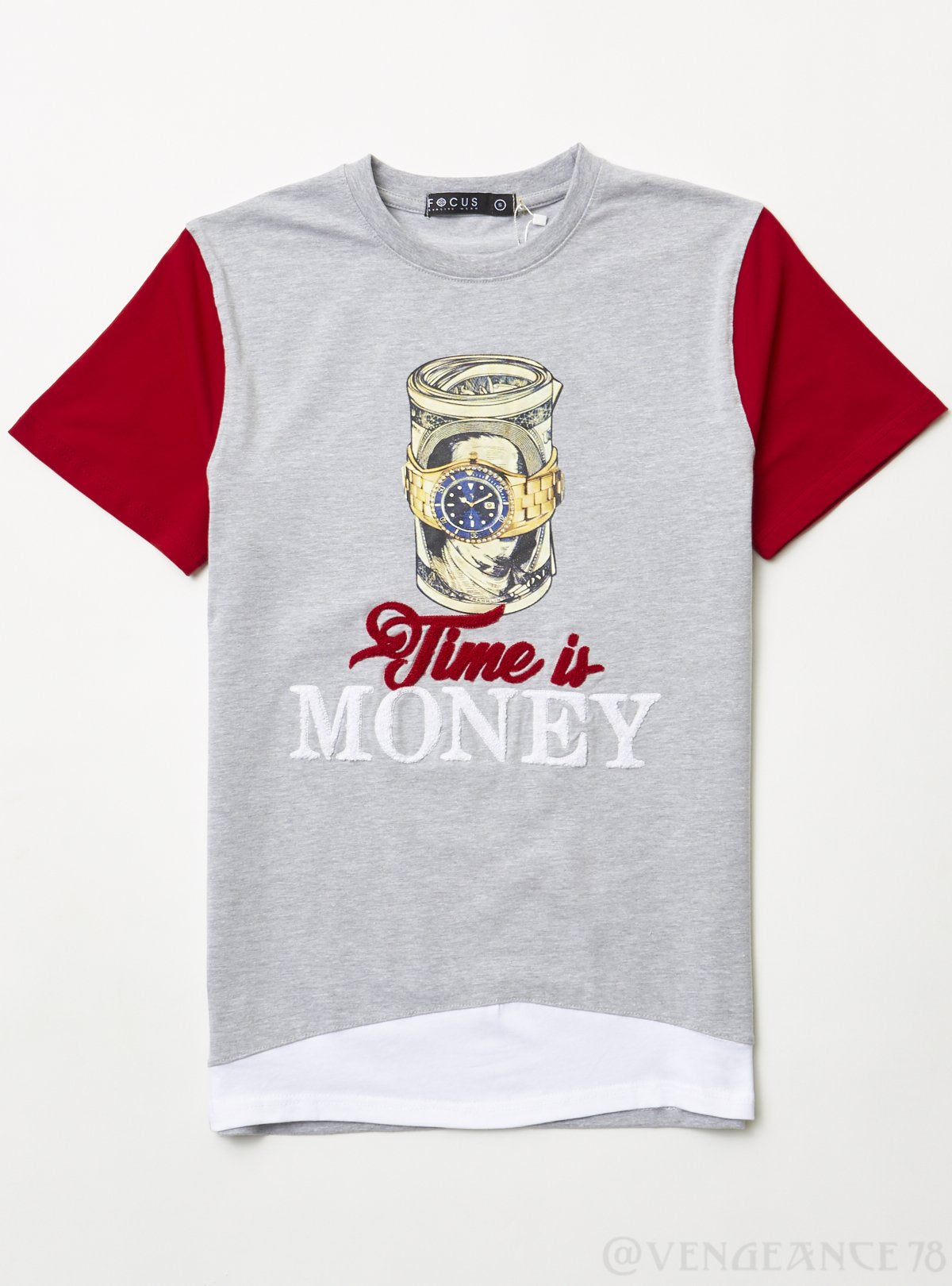 Focus T-Shirt - Time is Money - Heather Grey - 80359