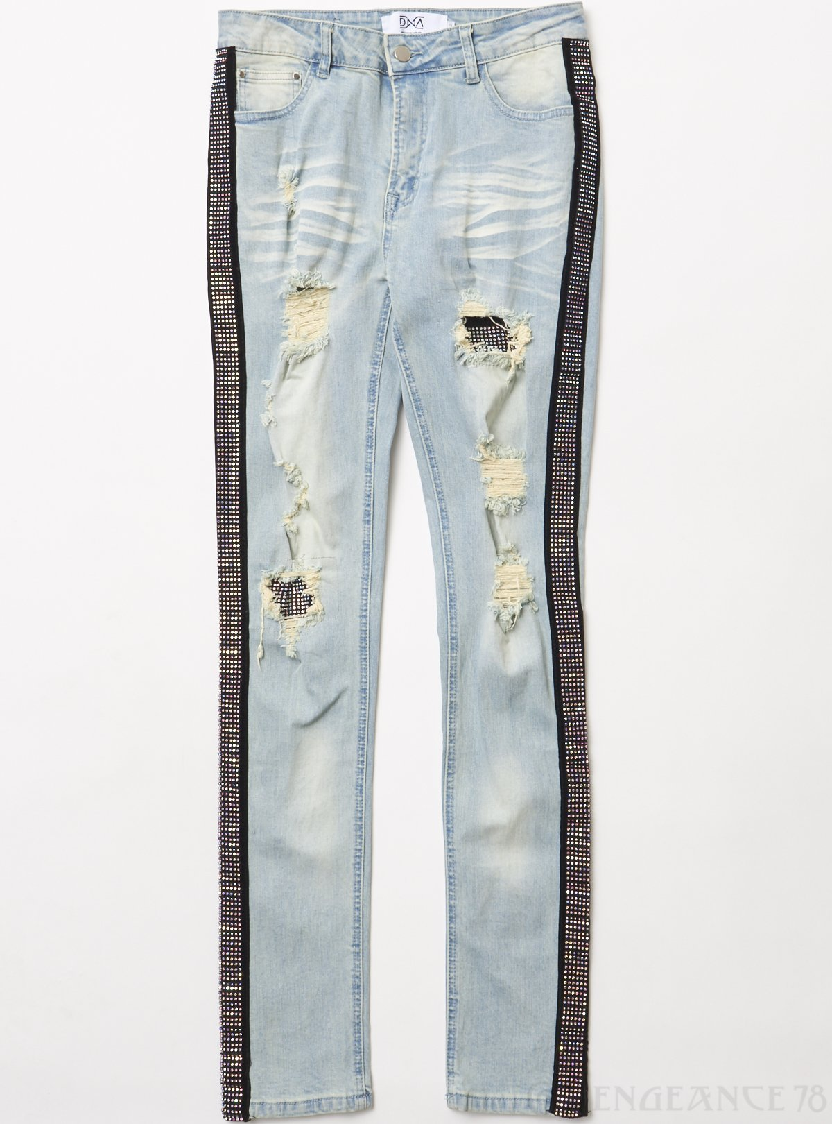 DNA Jeans - Side Stones - Light Blue And Multi