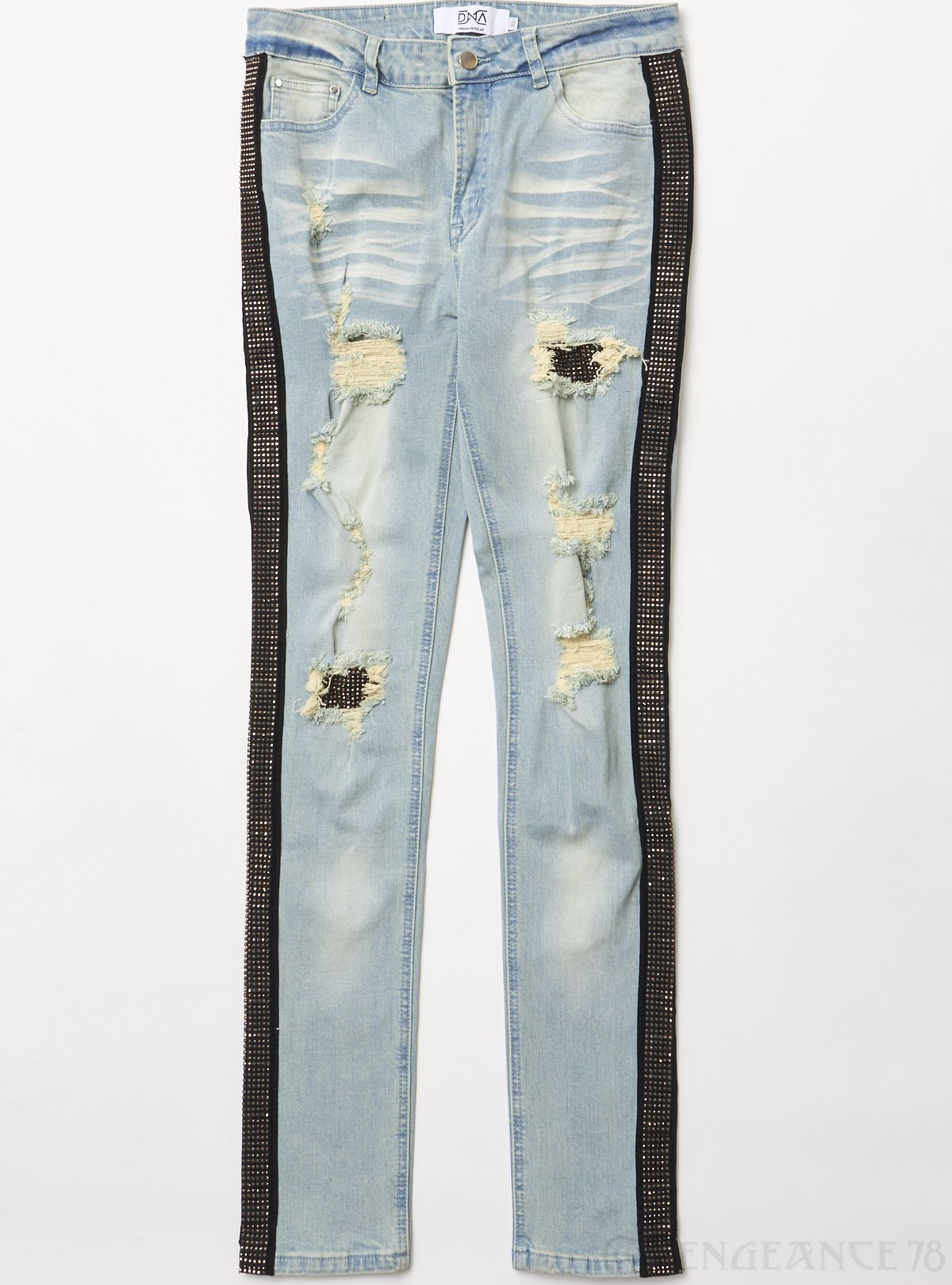 DNA Jeans - Side Stones - Light Blue And Gold