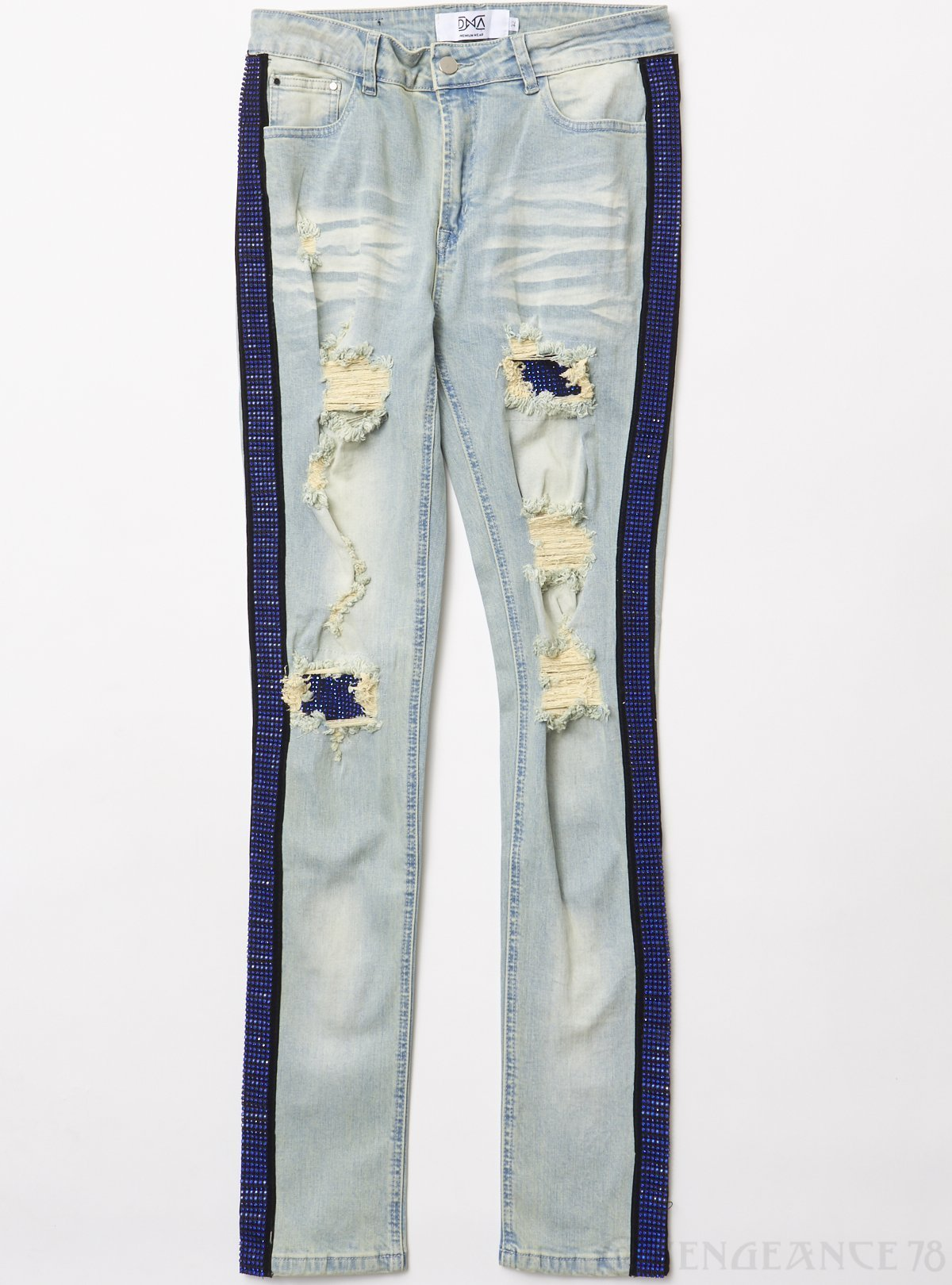 DNA Jeans - Side Stones - Light Blue And Royal