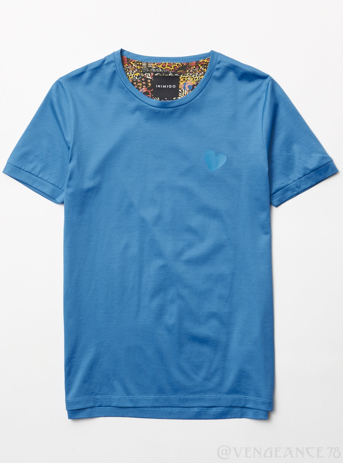 Inimigo T-Shirt - Heart - Blue - ITS4102