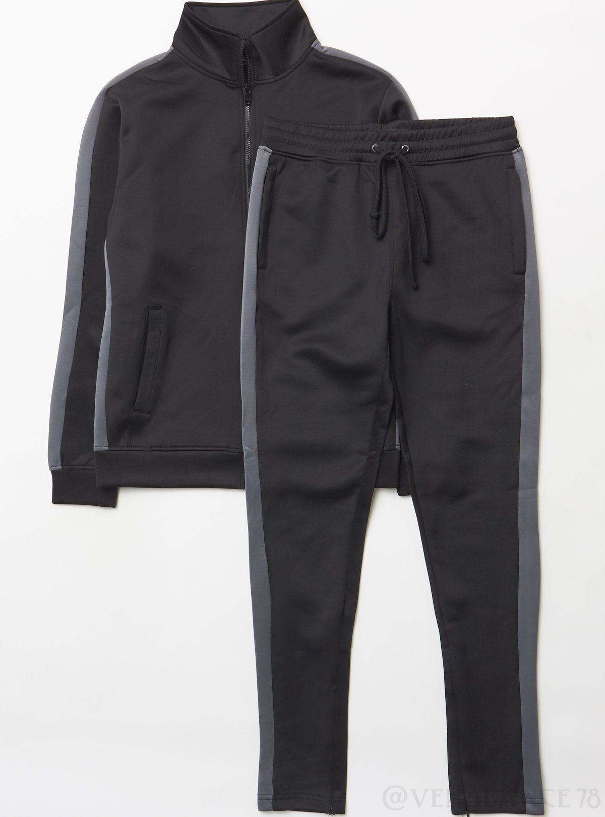 Rebel Minds Track Suit - Black And Charcoal - 100-501