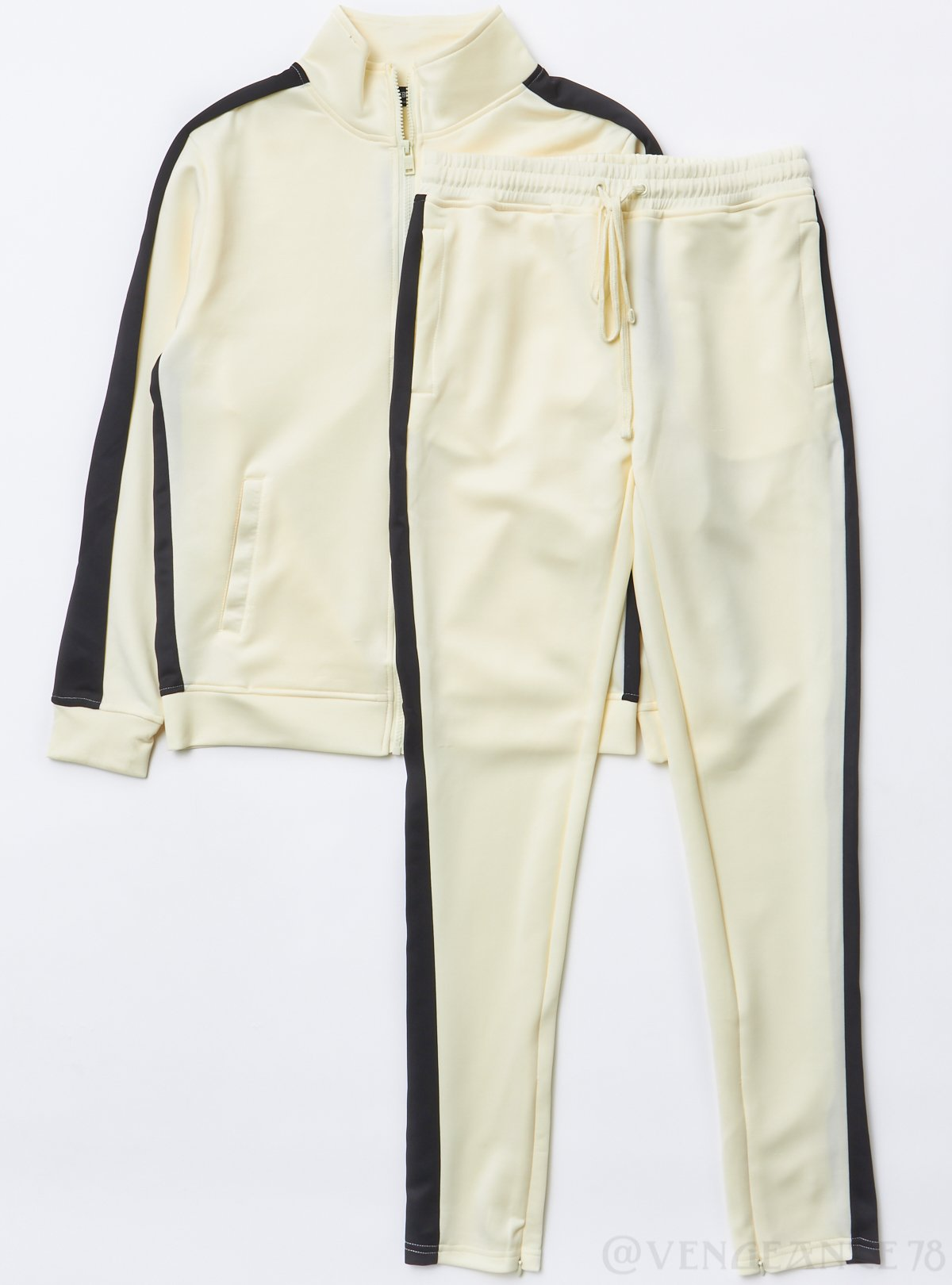 Rebel Minds Track Suit - Cream and Black - 100-502
