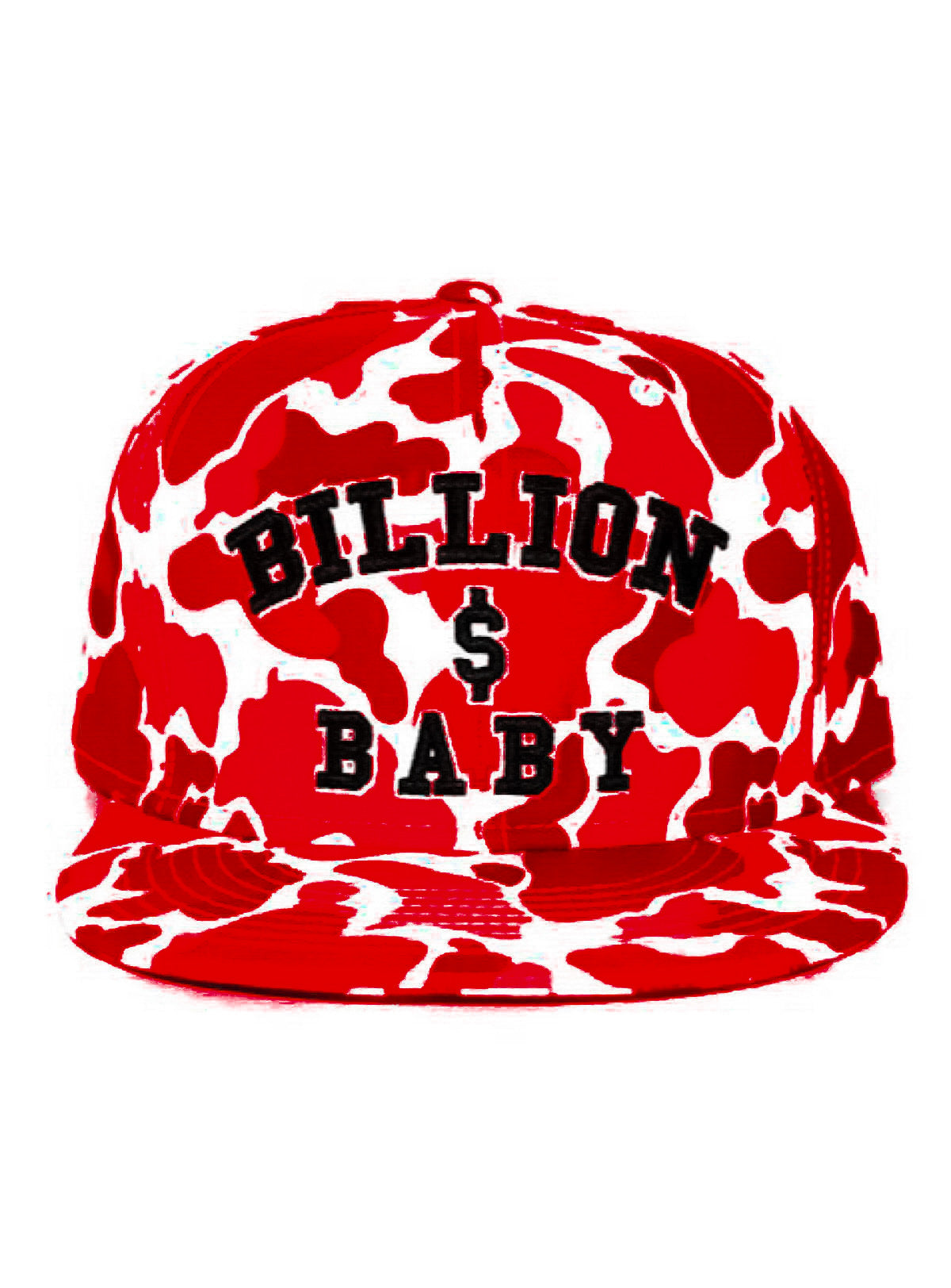 Billion Dolla Baby Hat - Camo Print - Cherry Red