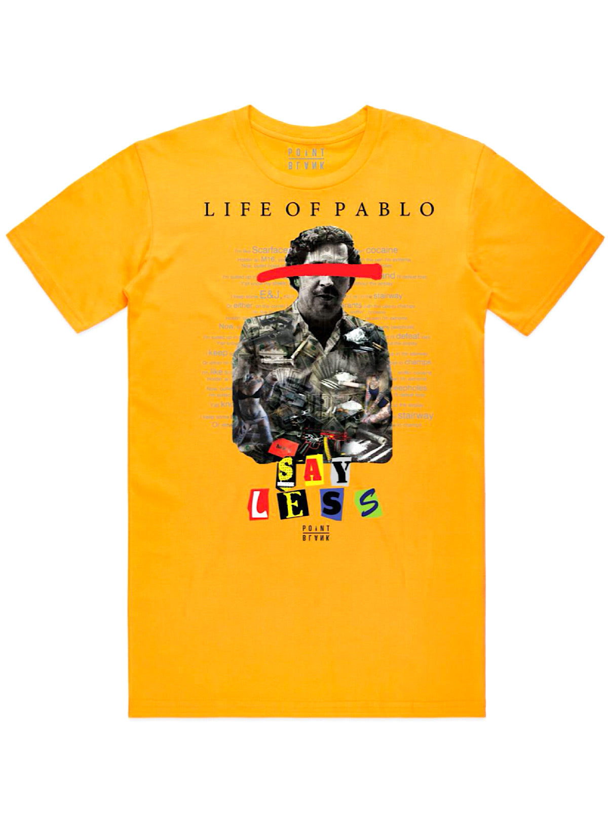 Point Blank T-Shirt - Life of Pablo - Gold
