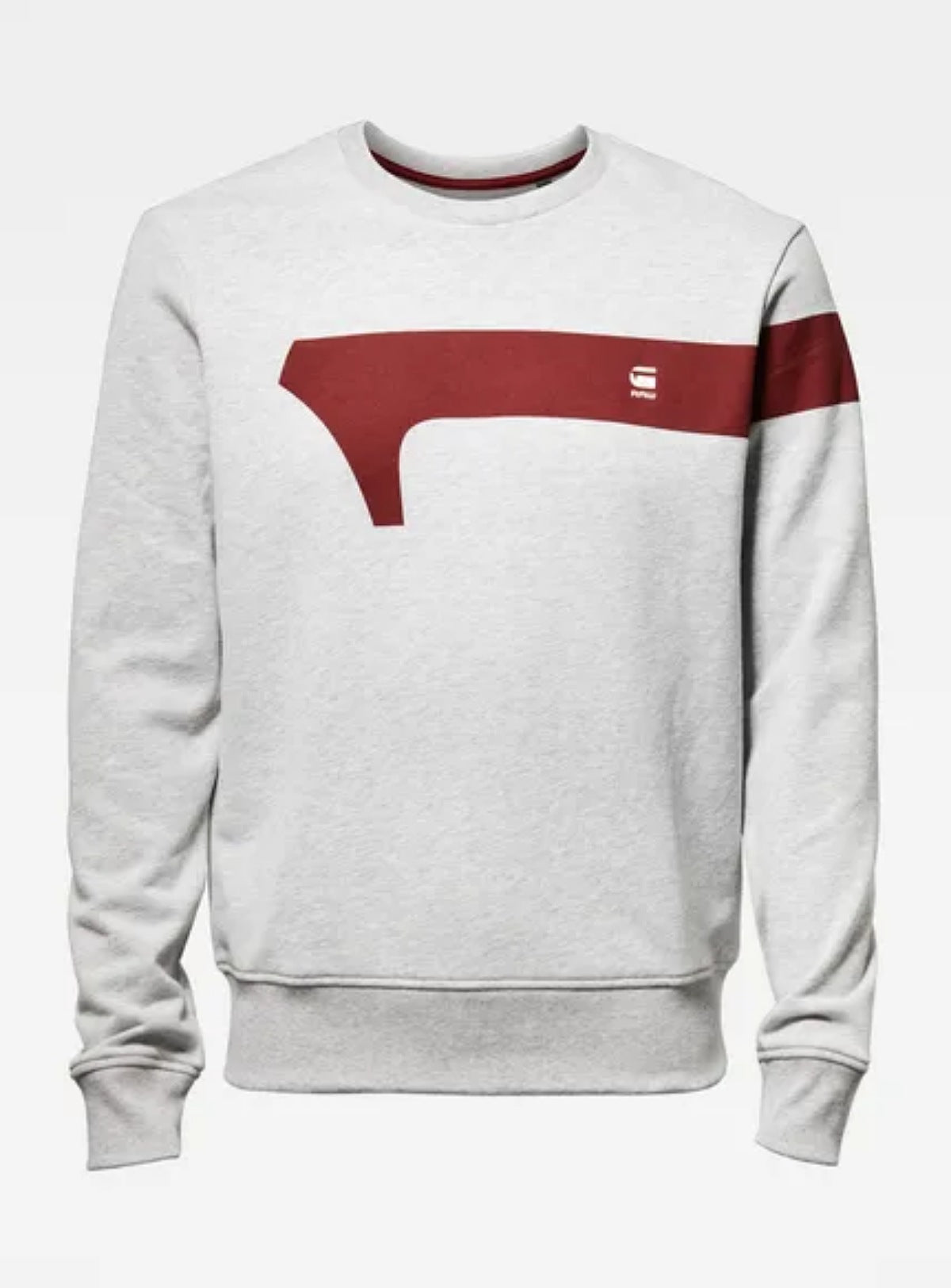 G-Star - Graphic 13 Sweater - Grey And Red - D15610