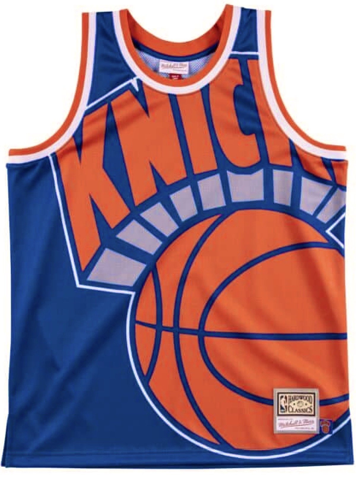 Mitchell & Ness Jersey - NBA Big Face Knicks - Blue and Orange