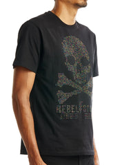 Rebel Minds T-Shirt - Stones Skull - Black - 1A2-162