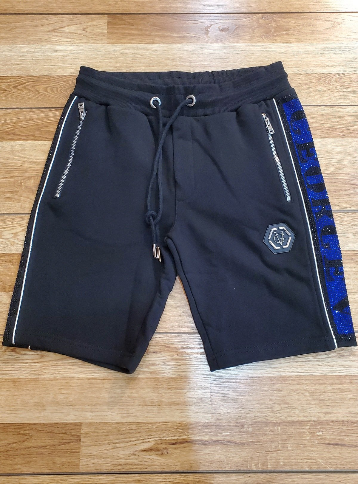 George V Short - Black With Blue And Silver Stones - GV-556