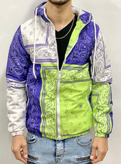 Buyer's Choice Jacket - Bandana - Navy And Lime - P6512