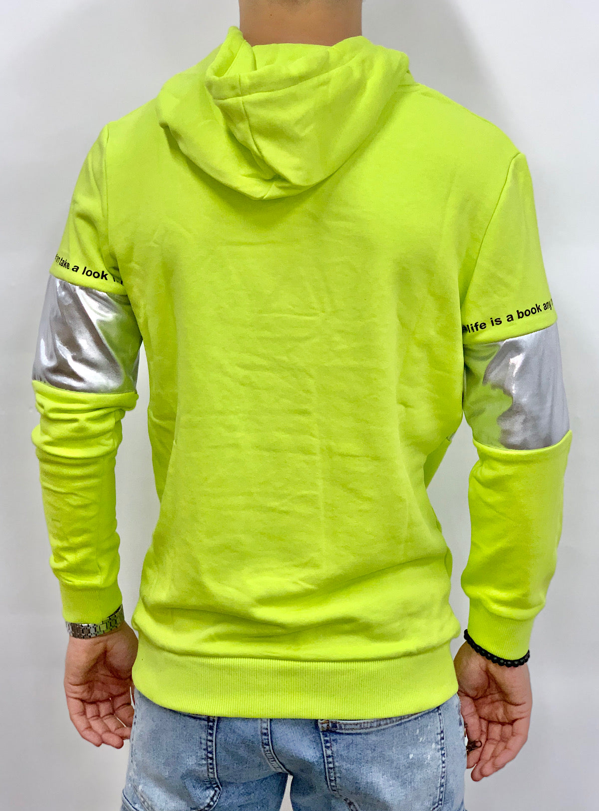 Buyer's Choice Hoodie - Secrets Of Life - Lime And Silver - 20402046