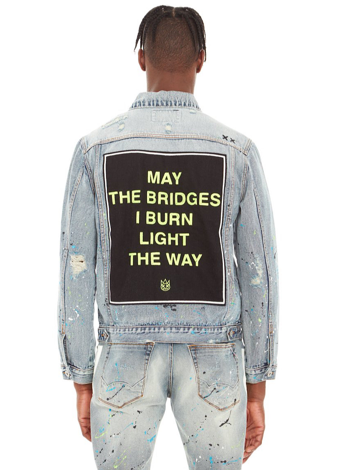 Cult of Individuality Denim Jacket - Light the Way - Neon