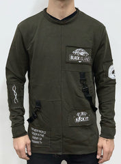 Buyer's Choice Sweatshirt - Graphics And Straps - Olive - ADA1005