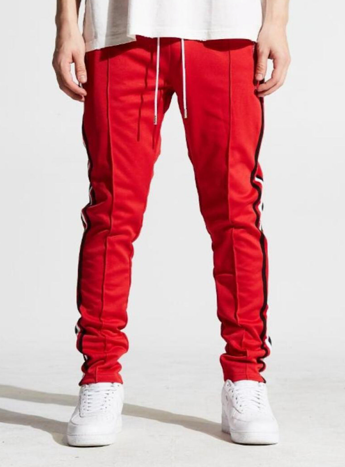 Karter Collection Track Pants - Jones - Red - KARTQS-08