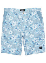 Cookies Swim Trunks - Seersucker Hibiscus - Baby Blue