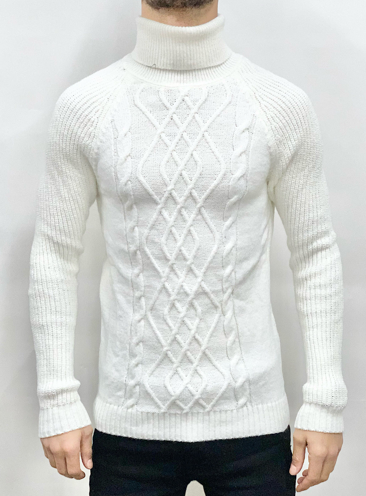 Buyer's Choice Sweater - Turtleneck Knit - Off White - T3720