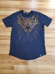 George V T-Shirt - Tiger - Navy - GV-2031