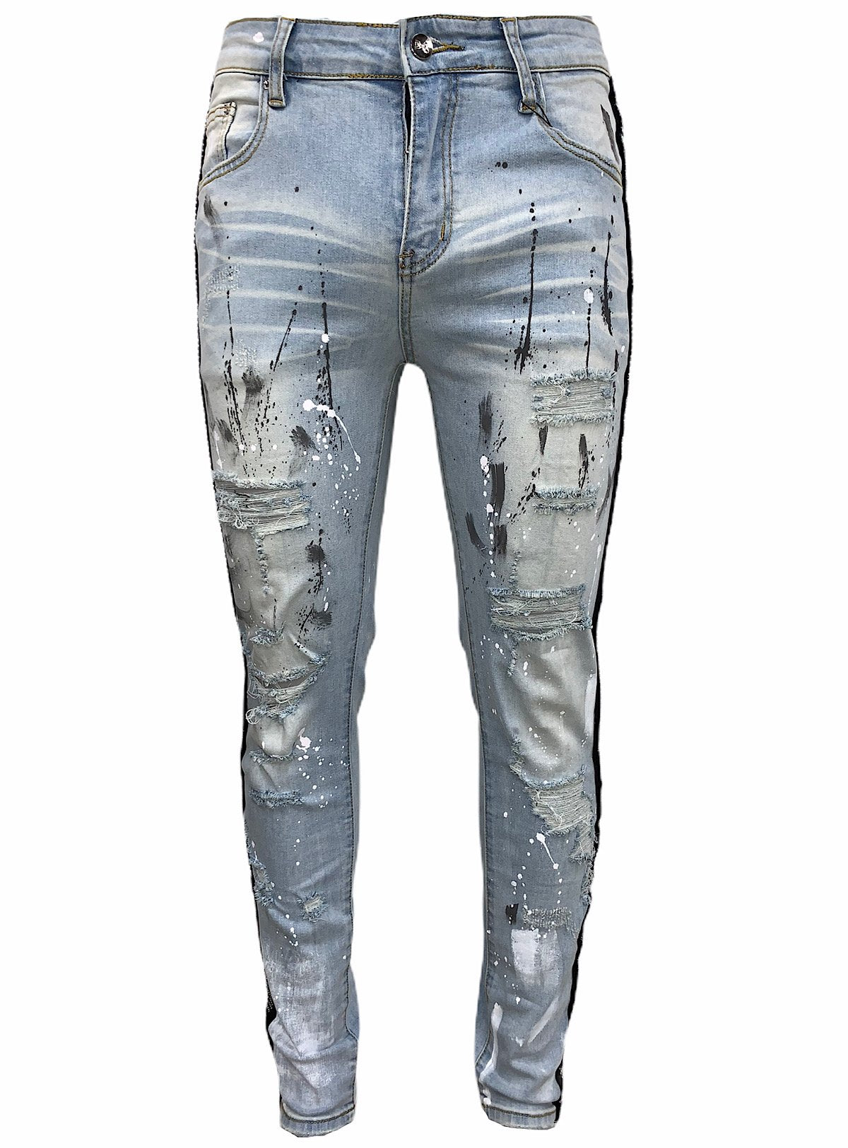 DNA Jeans - Light Blue And Multi Color Stones - PL06