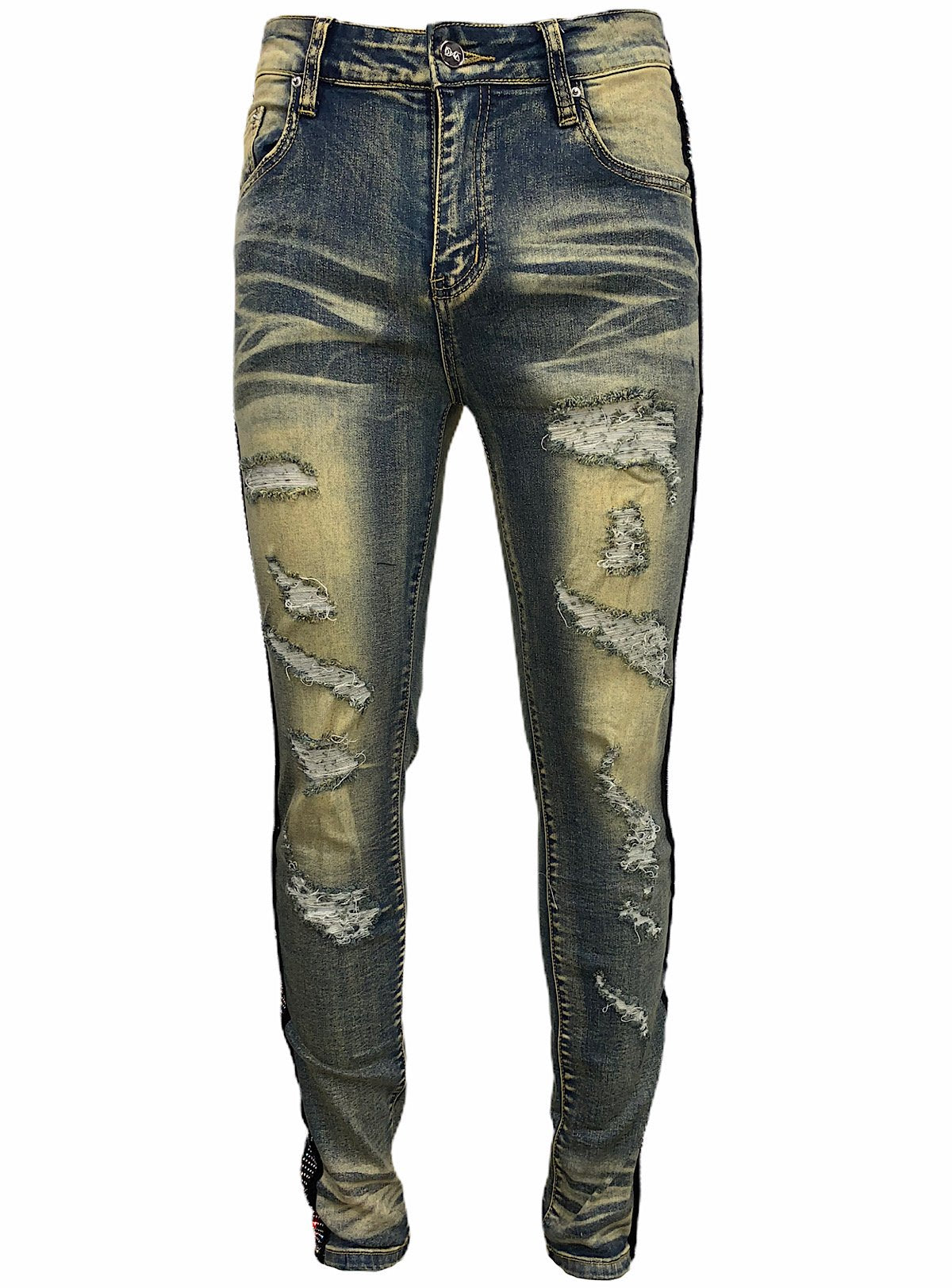 DNA Jeans - Green And Multi Stones