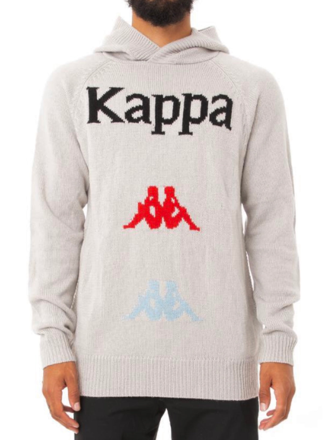 Kappa Knit Hoodie - Authentic Kasmart Man - Grey - 381367W
