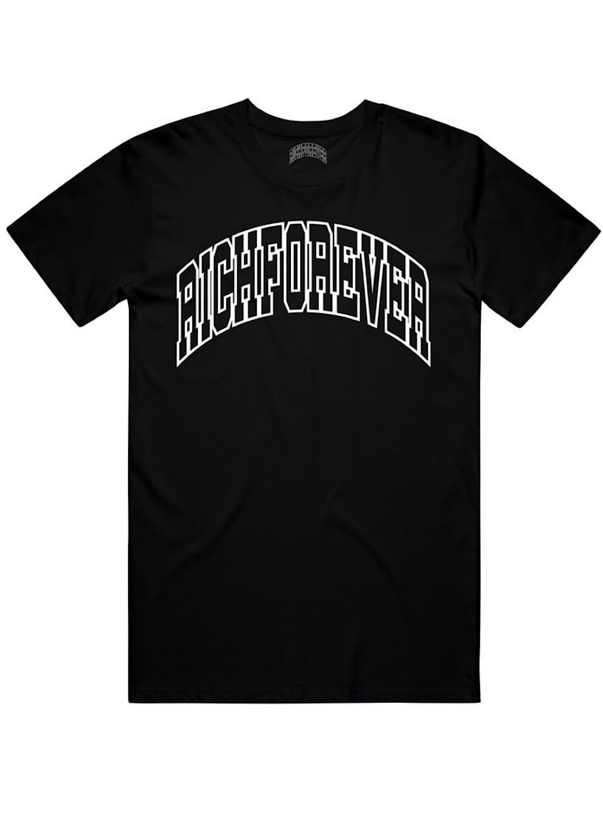 Rich Forever T-Shirt - Arch Logo - Black