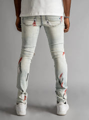 GFTD Jeans - Rips and Paint - Light Sammy - GD212