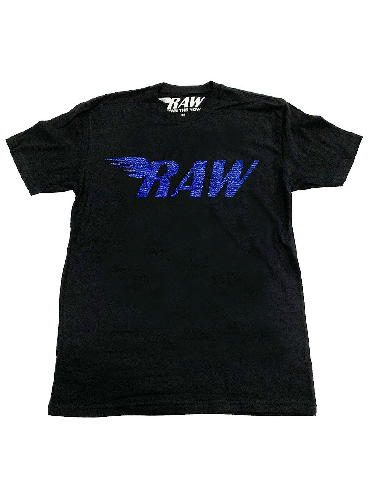 Rawyalty T-Shirt - Raw Stones - Cobalt and Black