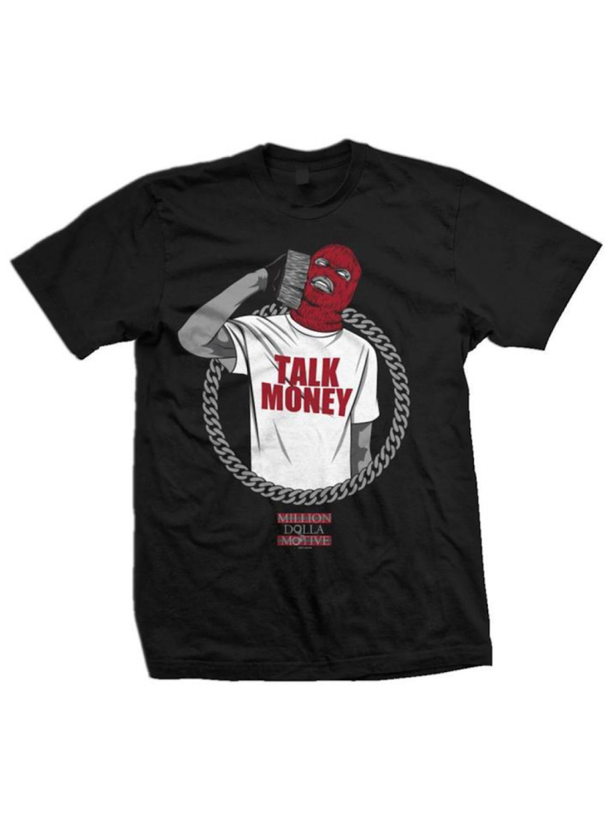 Million Dolla Motive T-Shirt - Talk Money - Black