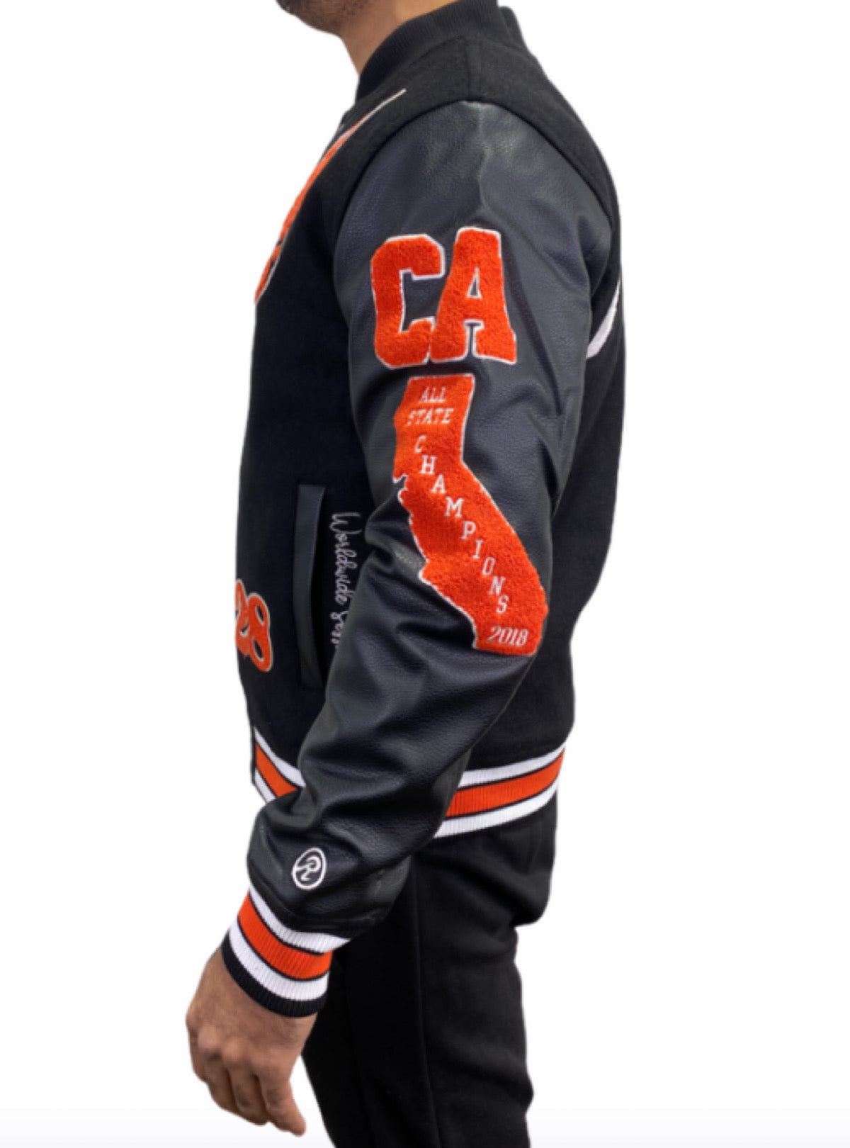 Runtz Jacket - All County Varsity - Black/Orange - 37345