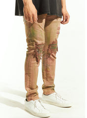 Embellish Jeans - Wilkins Rip & Repair - Orange Green - EMBSP220-134